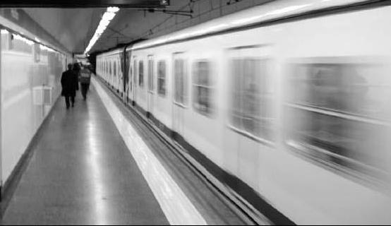 metro em movimento